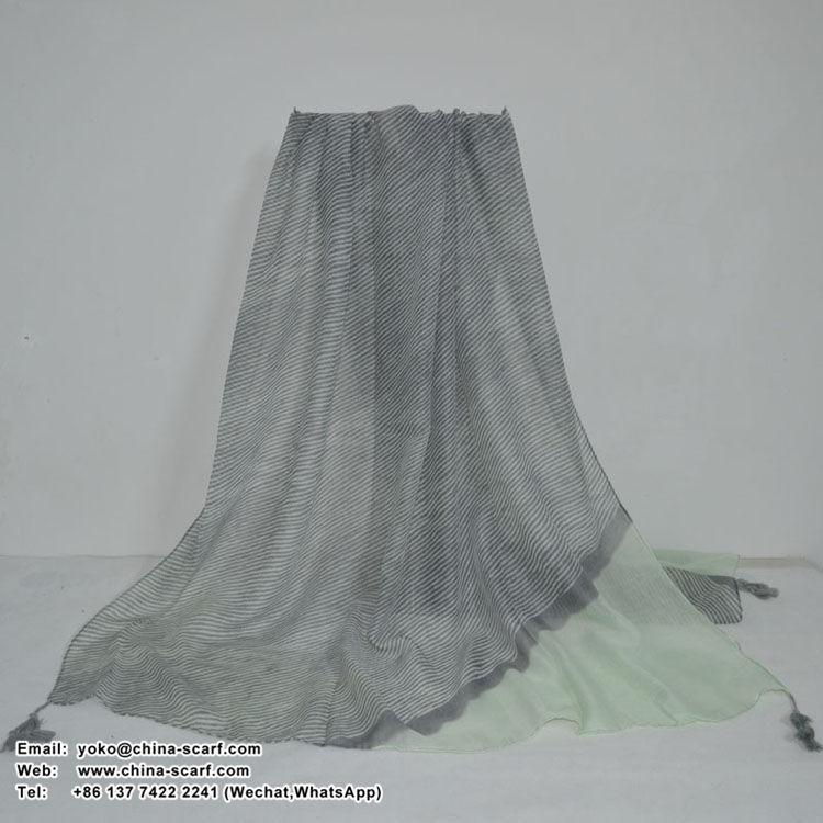 Female bevel spell color cotton scarf wholesale, www.china-scarf.com