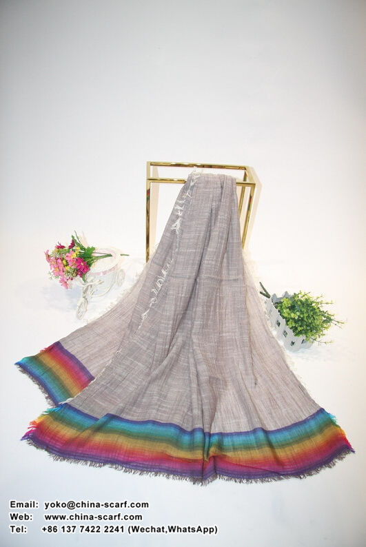 Female cotton linen changed fold scarf wholesale, www.china-scarf.com