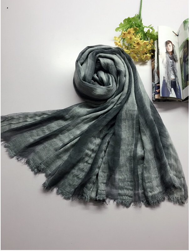Literary pure fresh tie-dyed striped cotton female long shawl wholesale, www.china-scarf.com