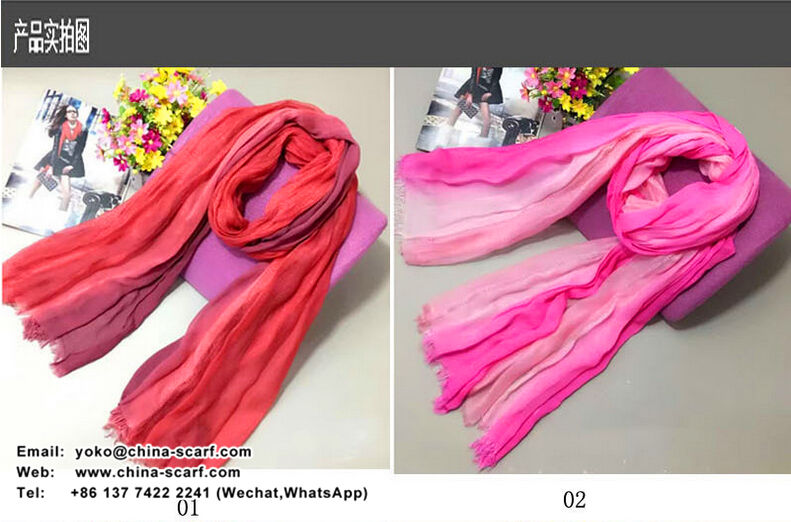 National wind modal three color excessively long silk scarf wholesale, www.china-scarf.com