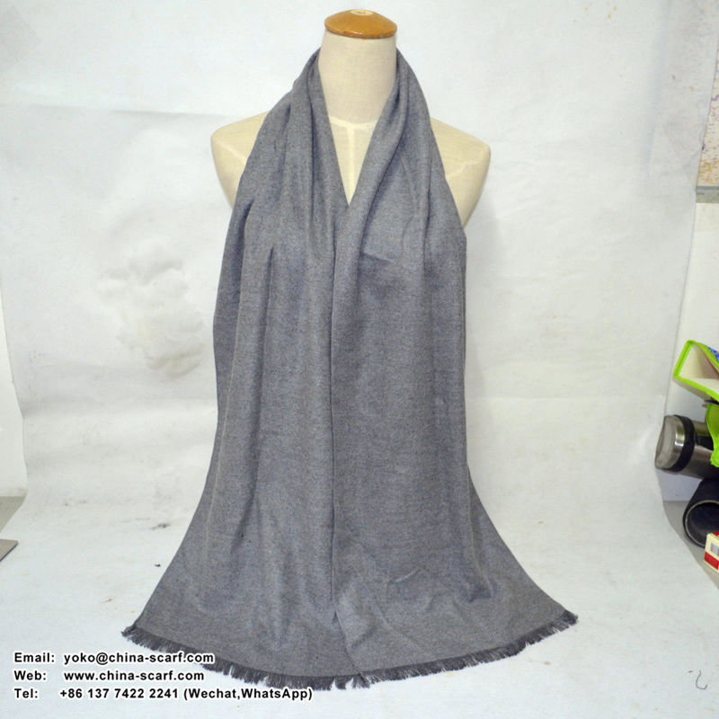 Pure color ladies wholesale 100% cashmere scarf, www.china-scarf.com