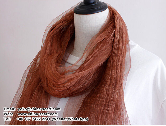 Pure evanescent hues linen changed scarf tie-dye plain scarves wholesale, www.china-scarf.com