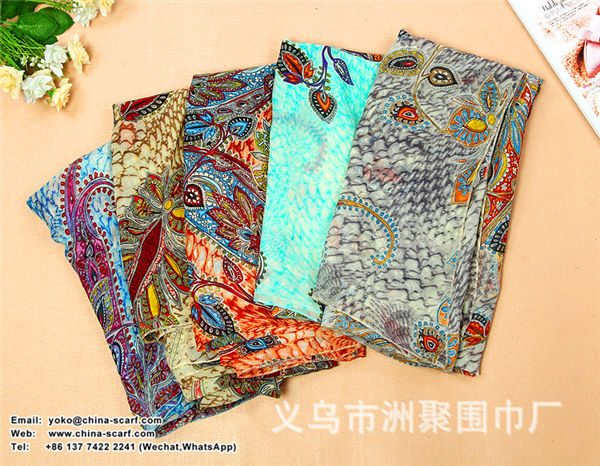 Autumn and winter chiffon Scarf multifunctional sun protection shawl scarves large size of beach towel wholesale, www.china-scarf.com