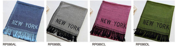 Fashion jacquard fringed shawl scarves wholesale, www.china-scarf.com