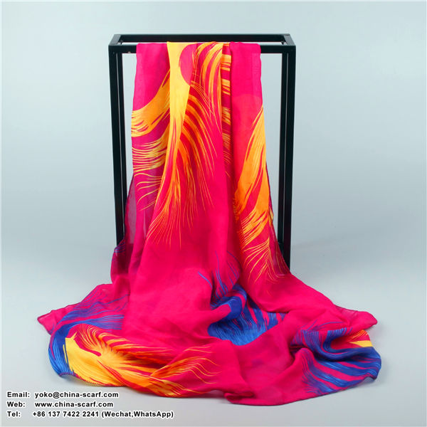Korean version of the autumn and winter large feathers Scarf, www.china-scarf.com