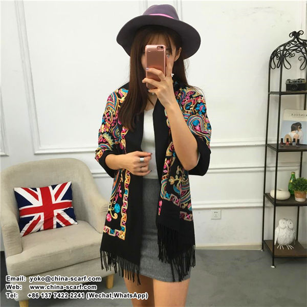 Nepal embroidery high-end cashmere shawl new autumn and winter national style Scarf manufacturers wholesale, www.china-scarf.com