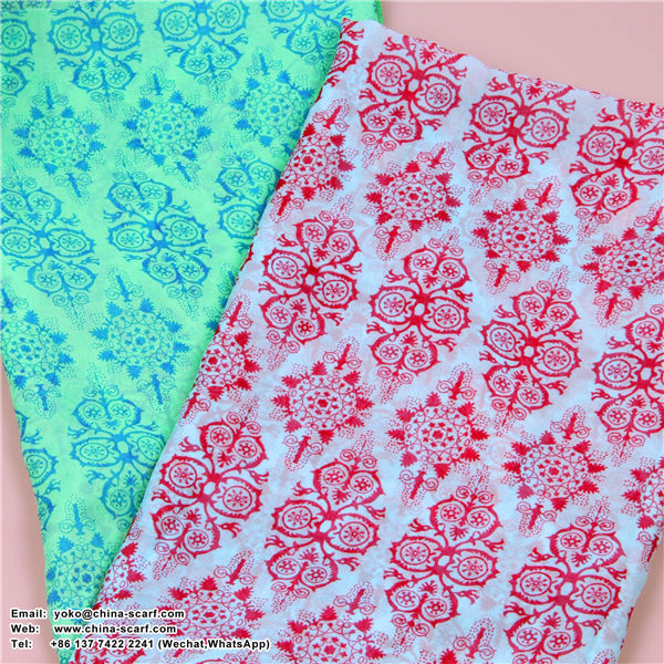 New winter retro Chinese traditional blue and white porcelain Scarf wholesale, www.china-scarf.com