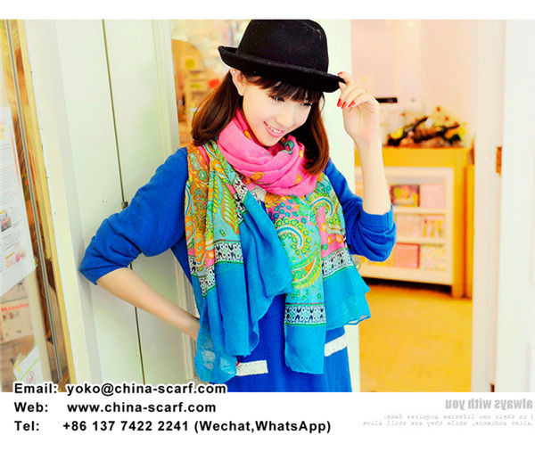 Special clearance Printing thin cotton scarves Korean women's voile variety of colors Scarf manufacturer wholesale, www.china-scarf.com