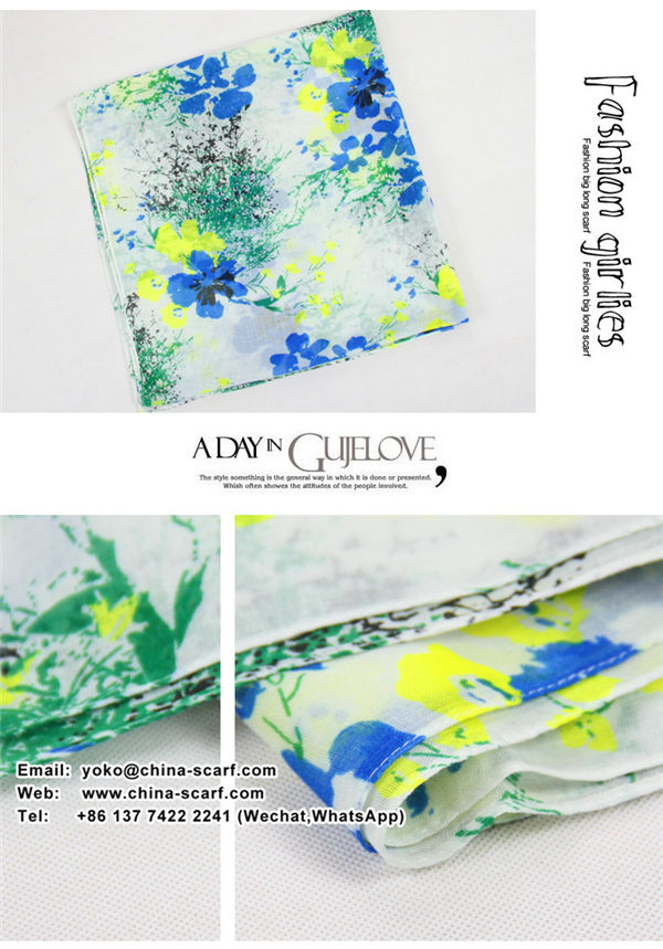 Spring Promotion voile scarves Korean female cotton scarf shawl spot wholesale, www.china-scarf.com