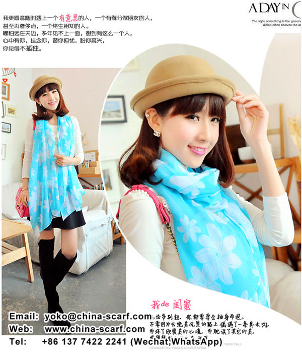 Spring promotional printing cotton voile scarves warm shawl factory direct special, www.china-scarf.com