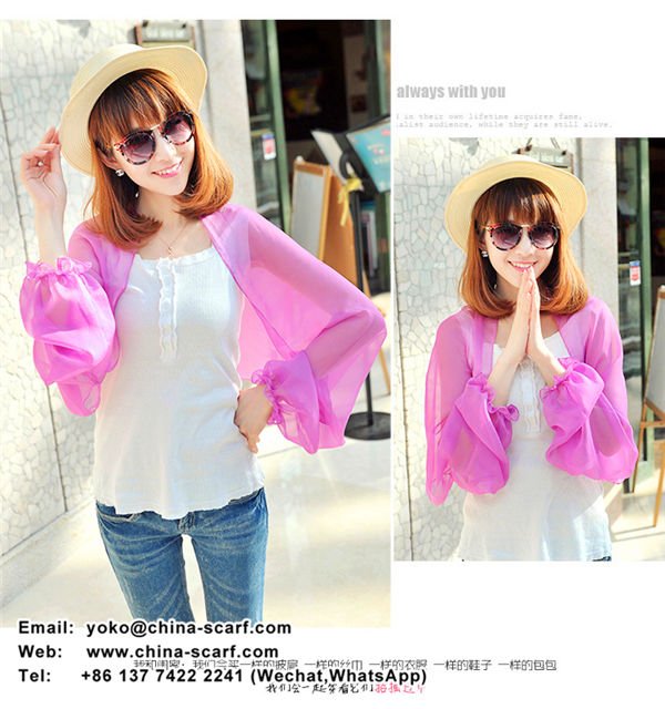 anti ultraviolet sun protection shawl scarf summer long-sleeved solid color chiffon shawl bicycle wholesale, www.china-scarf.com