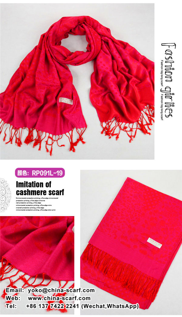 autumn and winter Keep warm fashion women jacquard fringed retro print scarves wholesale, www.china-scarf.com