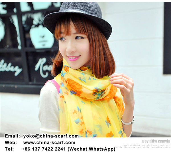 large chiffon scarf beach towel summer fashion sun protection silk shawl, www.china-scarf.com