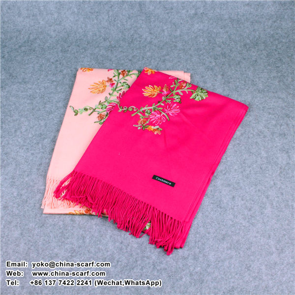 new design autumn and winter embroidery Nepal national style brushed warm cashmere shawl Scarf wholesale, www.china-scarf.com