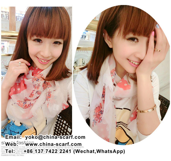 women's spring yarn scarf shawl scarves European and American fashion style thin section scarf, www.china-scarf.com